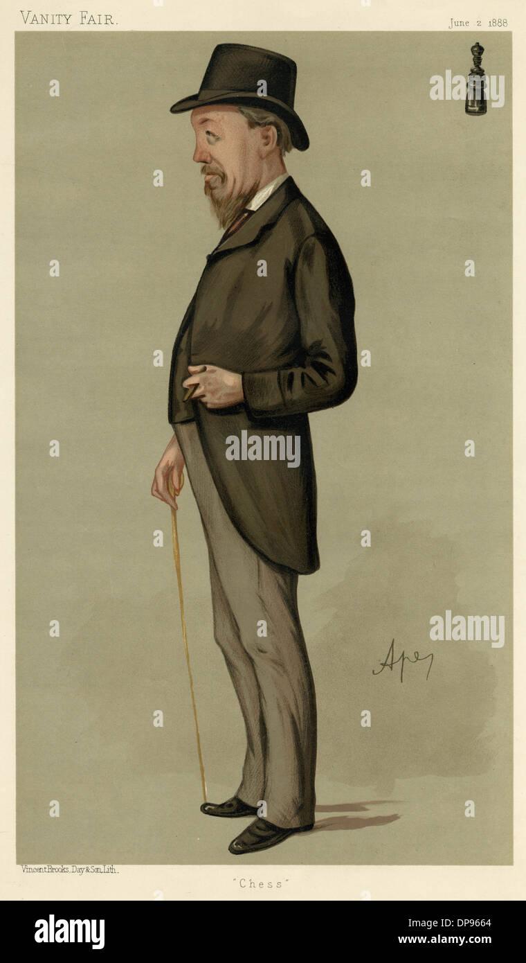 BLACKBURNE, CHESS PLAYER - Stock Image