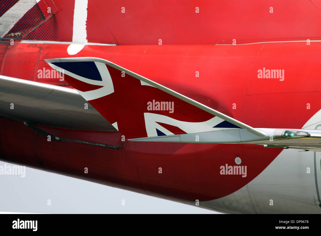 Winglet on the Boeing 747-400 Aircraft - Stock Image