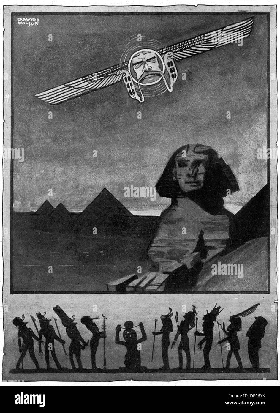KITCHENER/GODS OF EGYPT - Stock Image