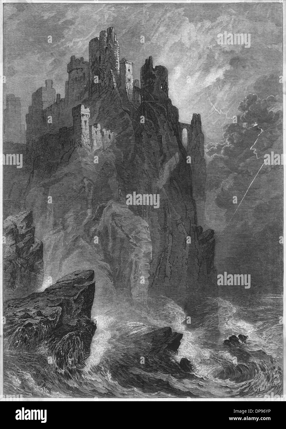 RUINED CASTLE - Stock Image