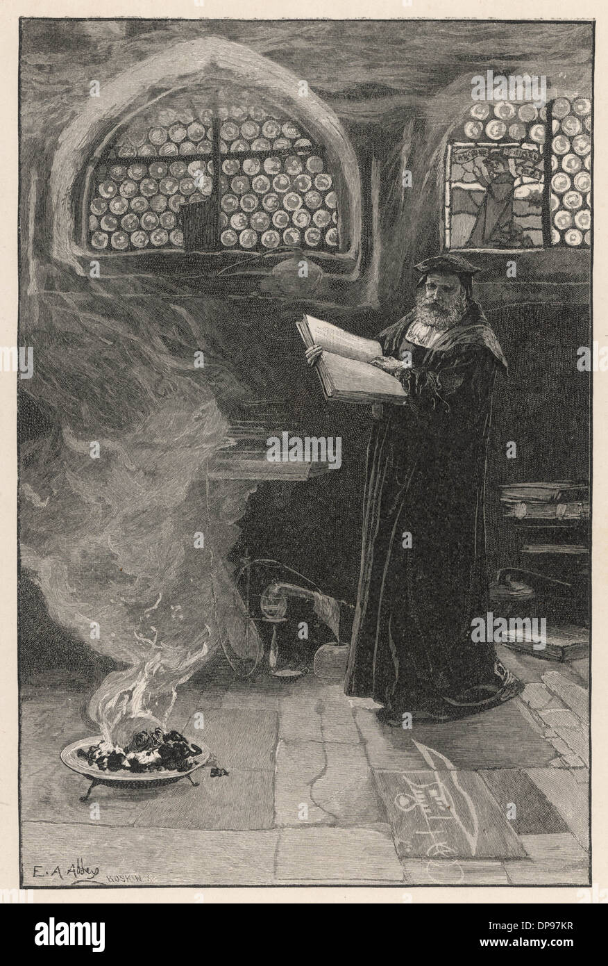 FAUST PRACTICES MAGIC - Stock Image