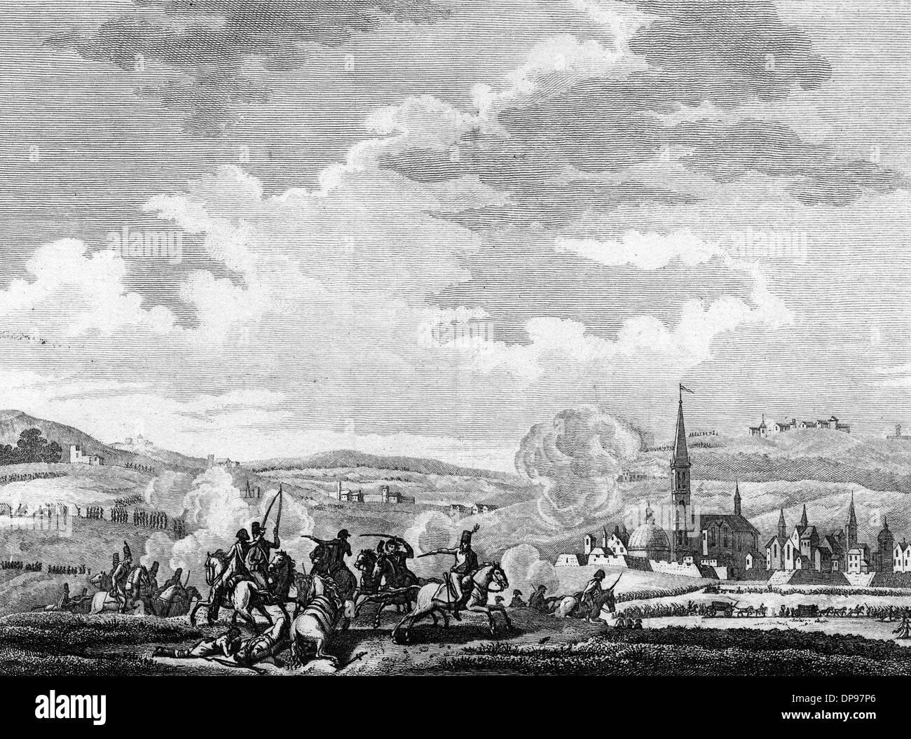 Battle of Neerwinden in the Revolutionary Wars, 1793 - Stock Image