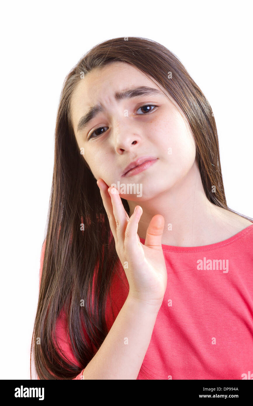 Girl child with toothache - Stock Image