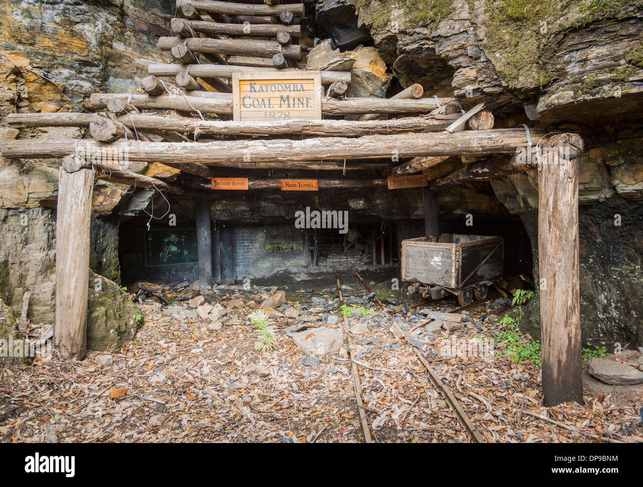 Katoomba Coal Mine entrance in the Blue Mountains, New South Wales, Australia Stock Photo