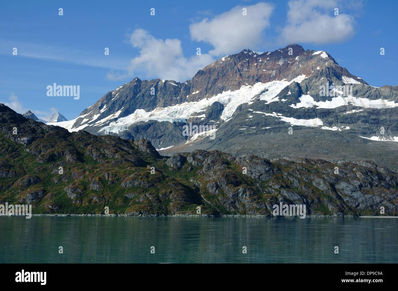 Mount Copper near Lambplugh Glacier, Glacier Bay National Park, Alaska - Stock Image