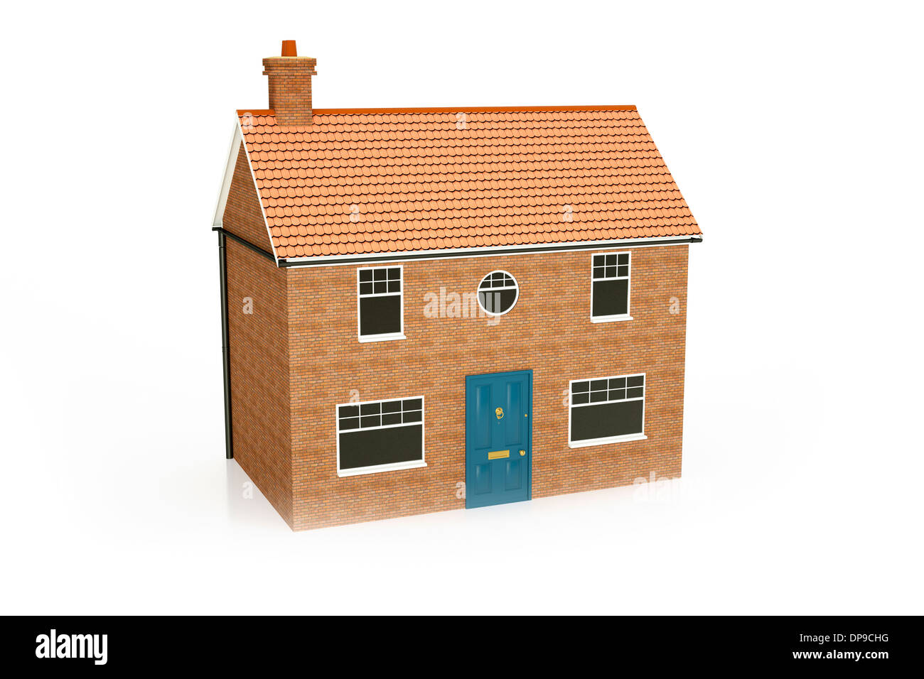 New build detached house home - Stock Image