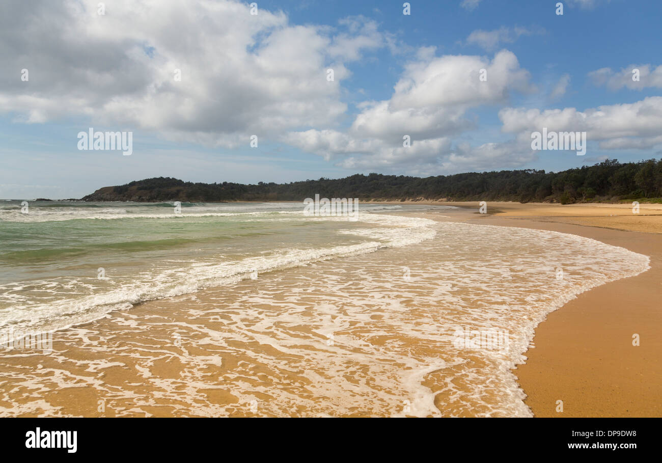 Diggers beach on the South Pacific Coast near Coffs Harbour in New South Wales, Australia - Stock Image