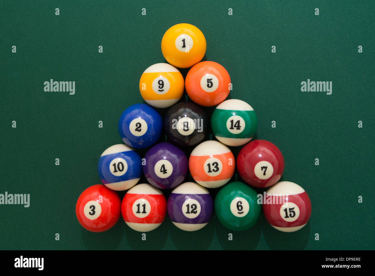 Pool Balls Set Up At The Start Of A Game Stock Photo Alamy - How to set up a pool table