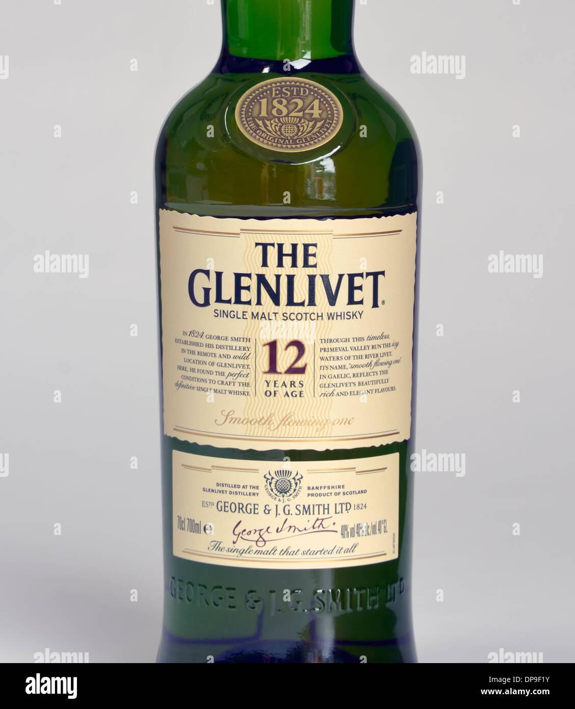 The Glenlivet, Single Malt Scotch Whisky. 12 Years Of Age