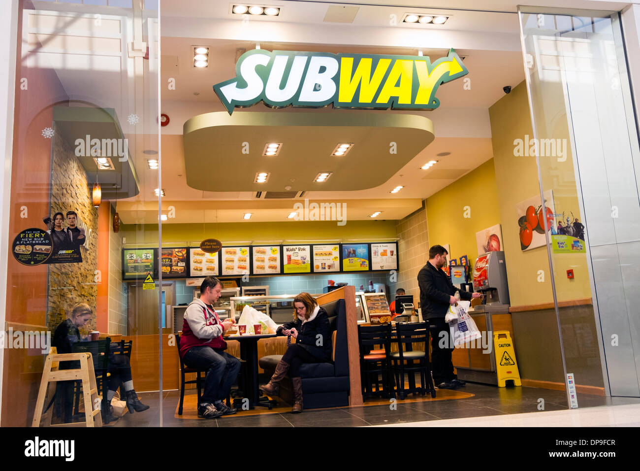 Subway restaurant at Merry Hill, UK. - Stock Image