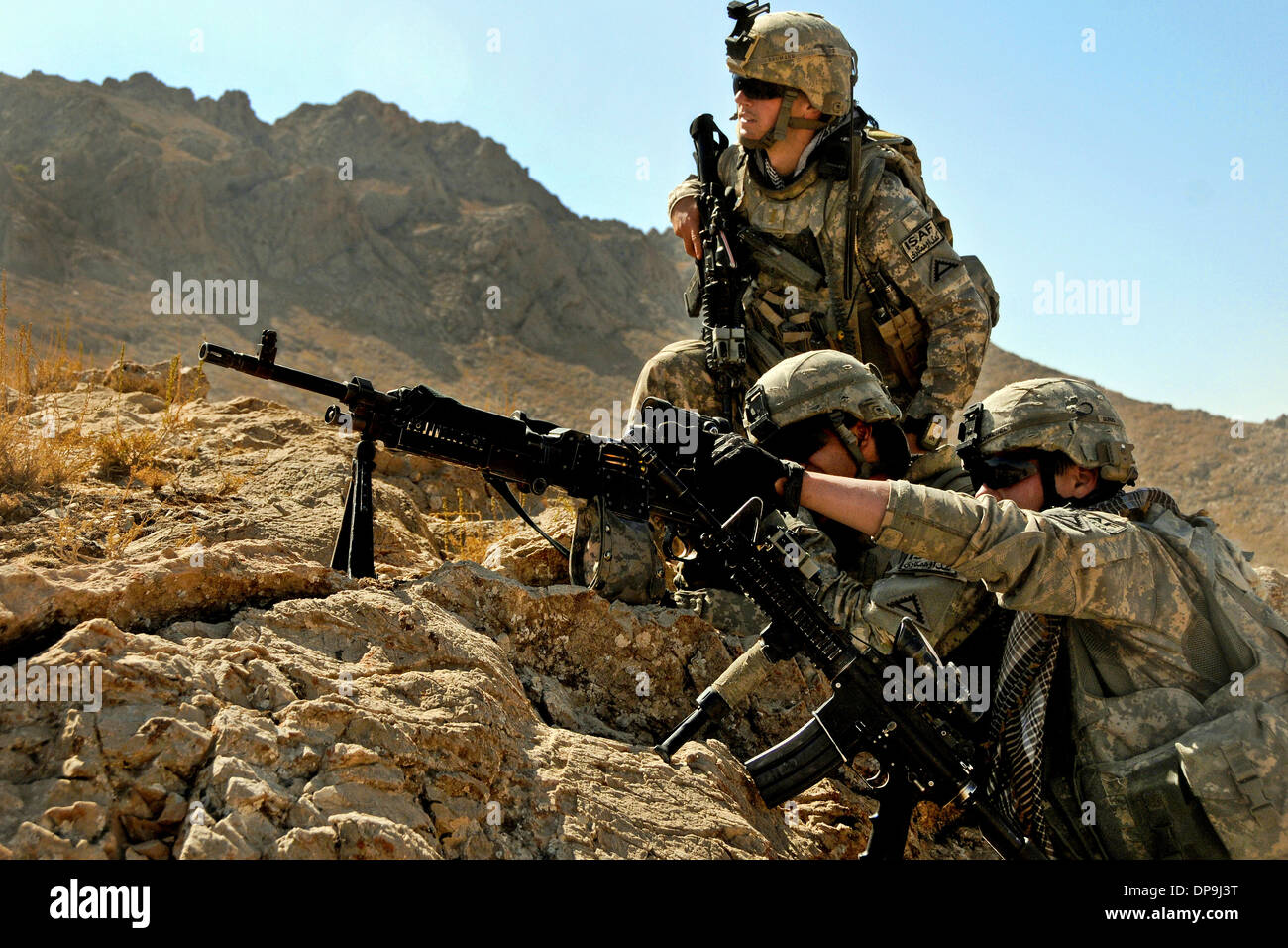 U.S. Soldiers with Charlie Company, 1st Battalion, 4th Infantry Regiment in Zabul province, Afghanistan Stock Photo