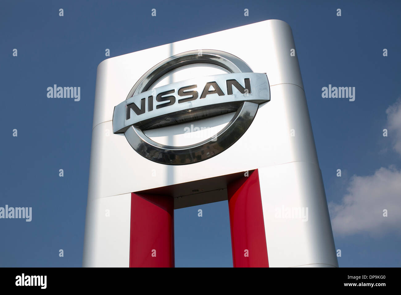 A Nissan Dealer Lot In Suburban Maryland.