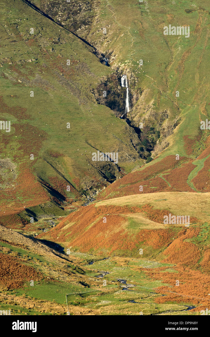 Cautley Spout in the Howgill Fells, near Sedbergh, Cumbria. - Stock Image