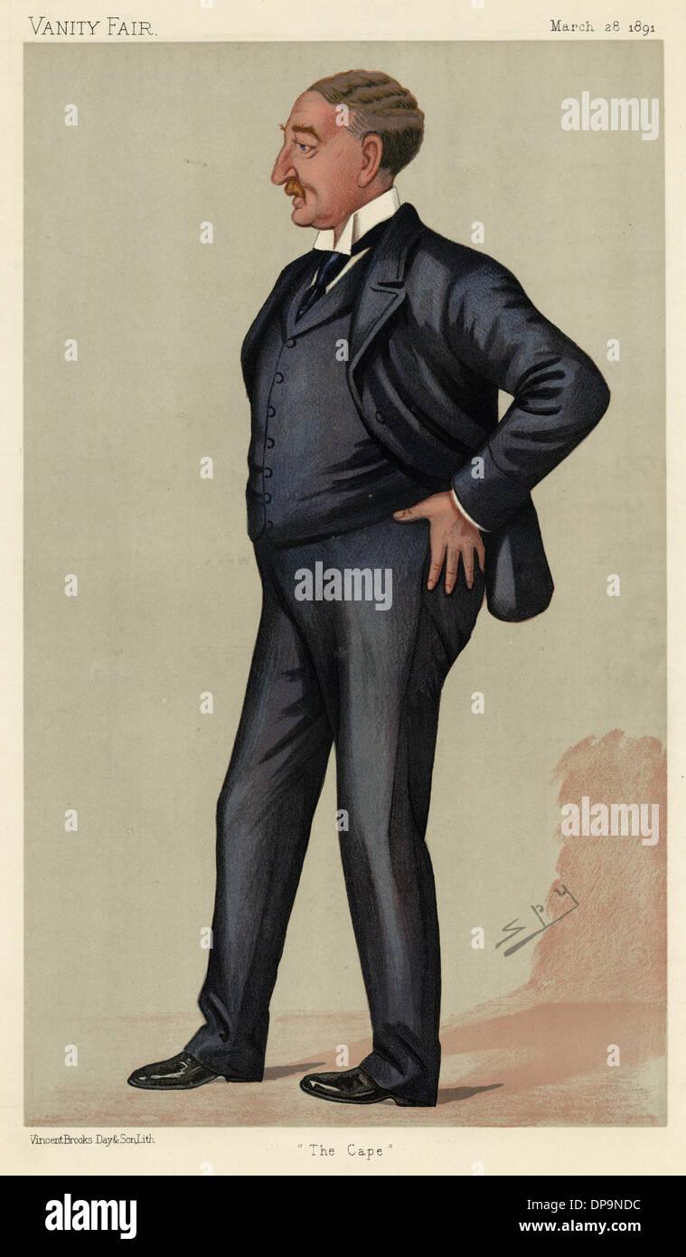 CECIL RHODES/VFAIR 1891 - Stock Image
