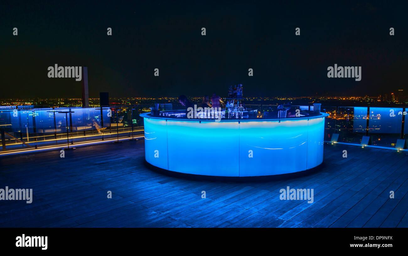 a rooftop bar in Bangkok, Thailand - Stock Image