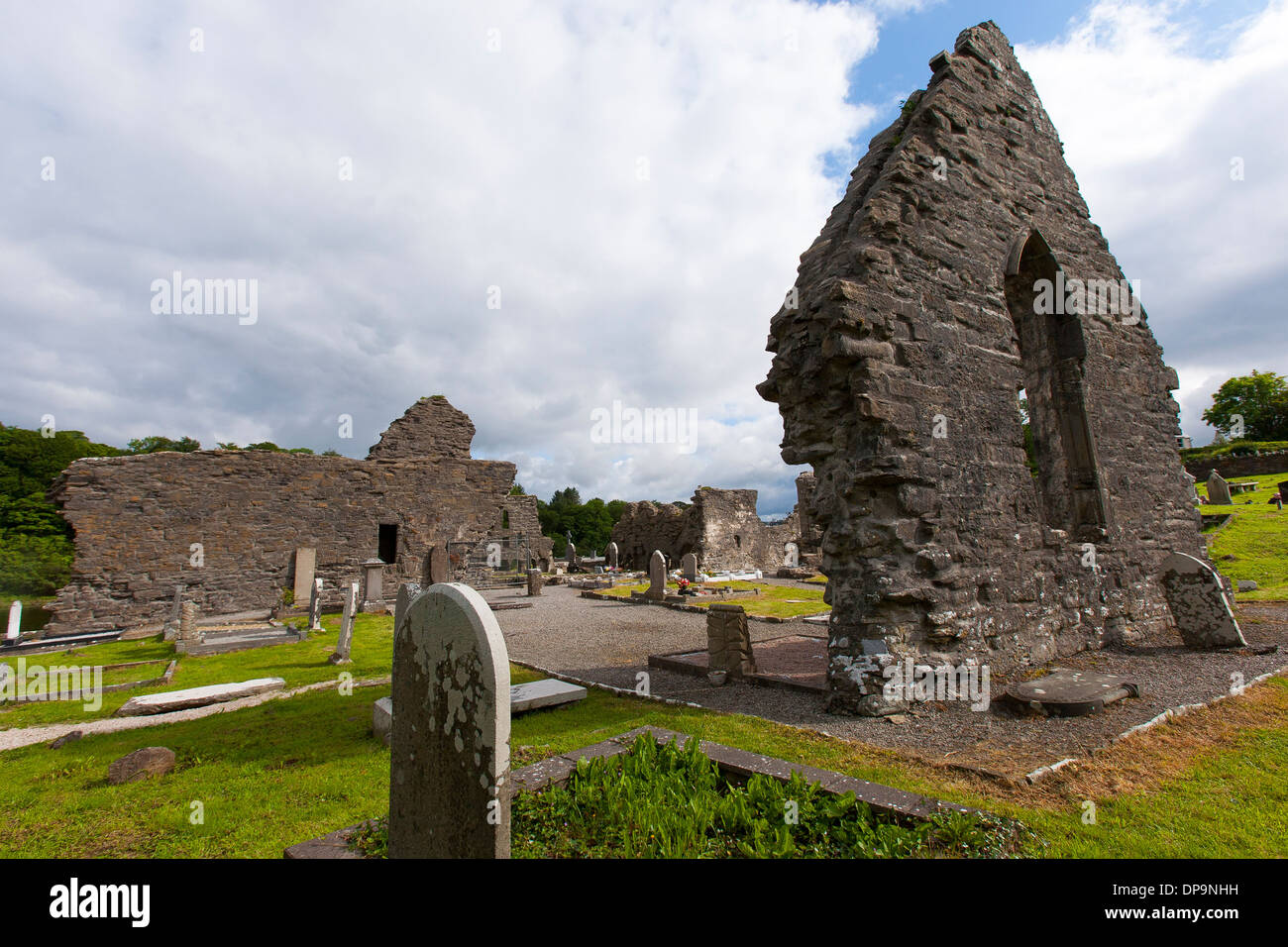 The remains of Donegal's Franciscan Abbey - Stock Image