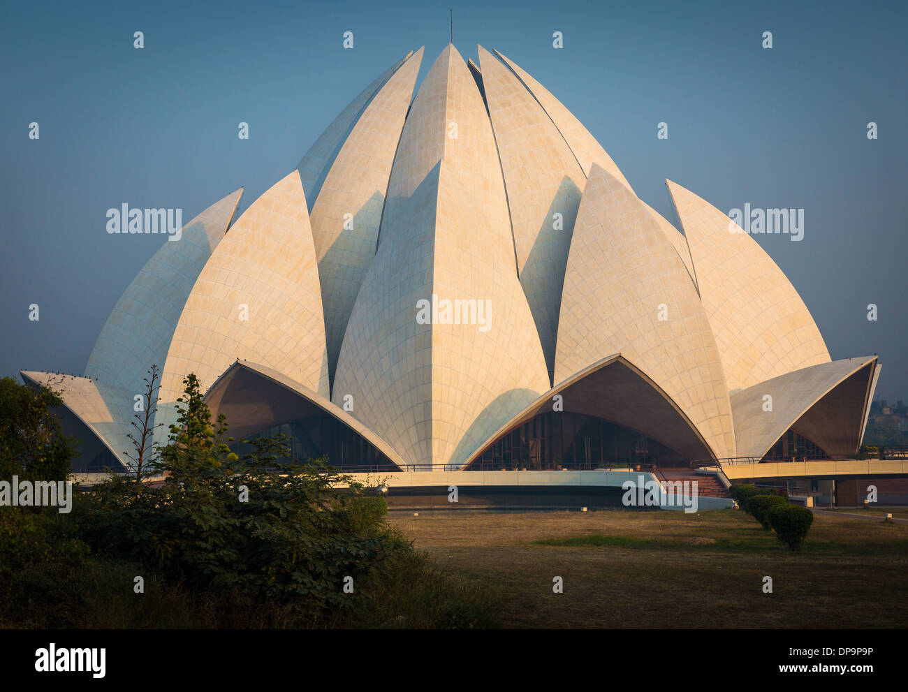 The Lotus Temple, located in New Delhi, India, is a Bahá'í House of Worship - Stock Image