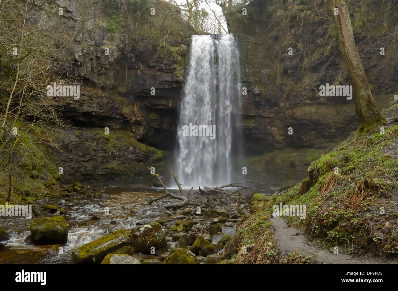 Henrhyd Falls - Stock Image