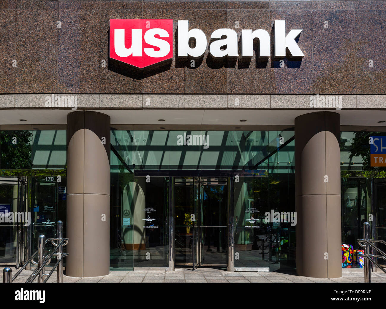 US Bank branch in Salt Lake City, Utah, USA - Stock Image