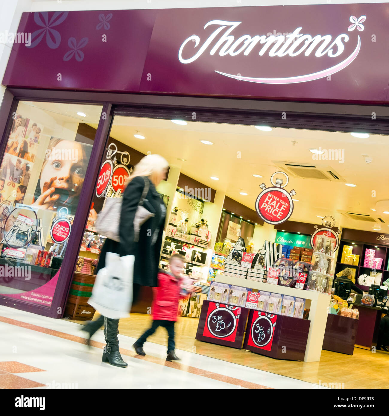 Thorntons chocolate store at Merry Hill, UK. - Stock Image