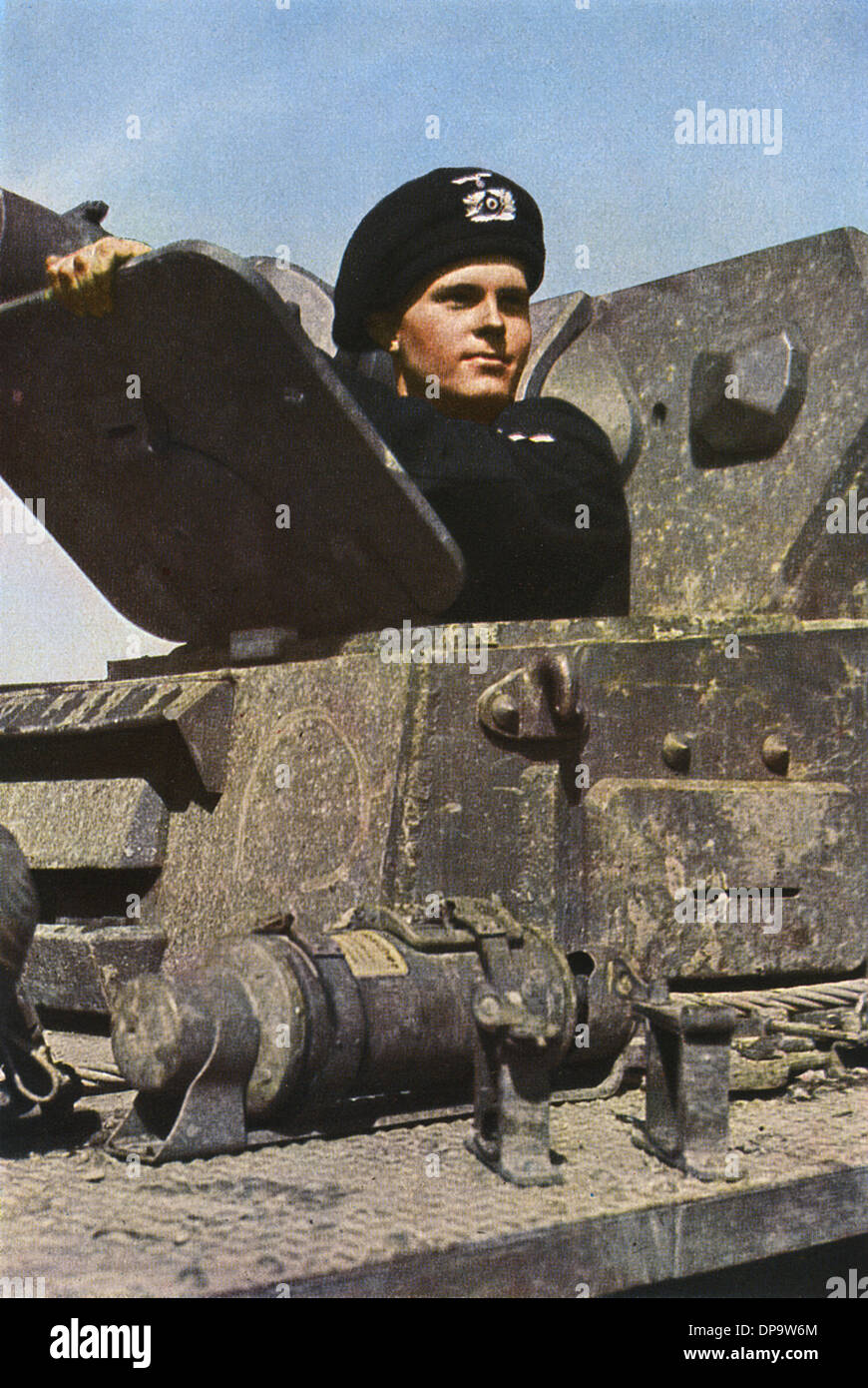 GERMAN TANK COMMANDER - Stock Image