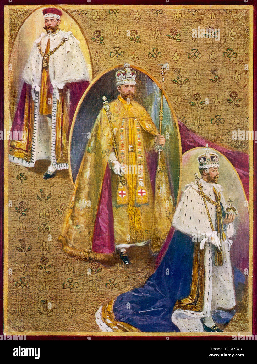 THREE CORONATION ROBES - Stock Image