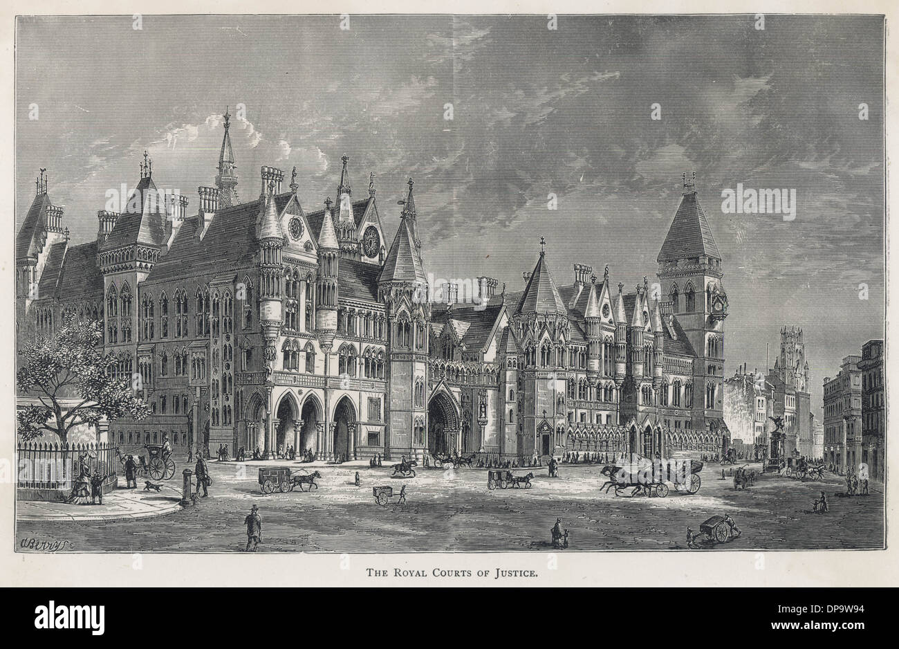 COURTS OF JUSTICE 1870S - Stock Image