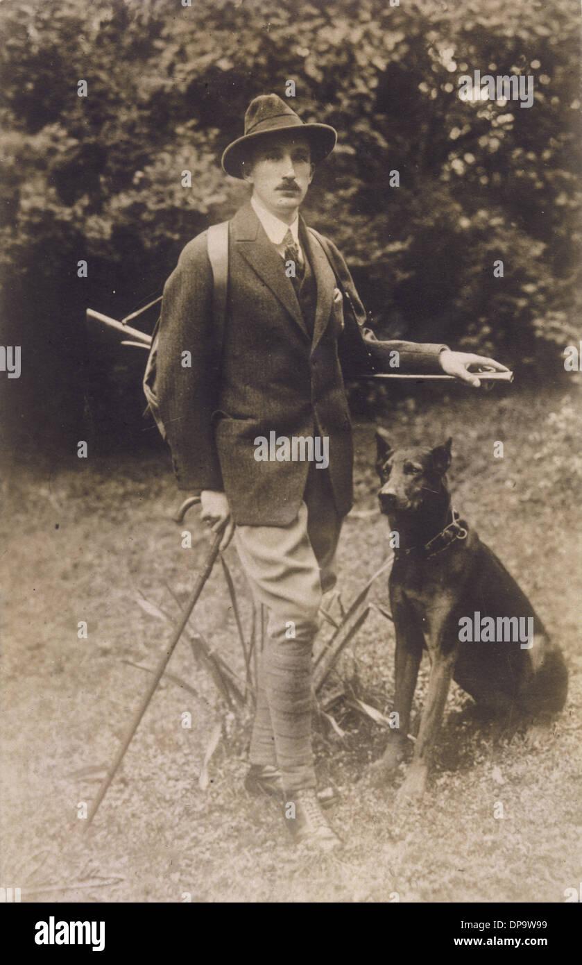 BORIS AND HUNTING DOG - Stock Image
