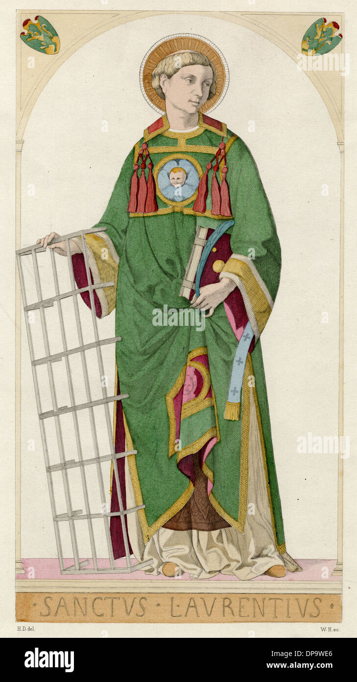 SAINT LAURENCE OF ROME - Stock Image