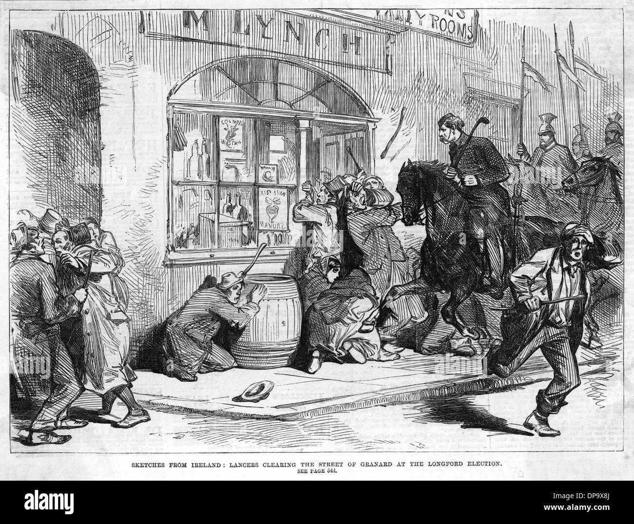 IRELAND/LANCERS/1870 - Stock Image