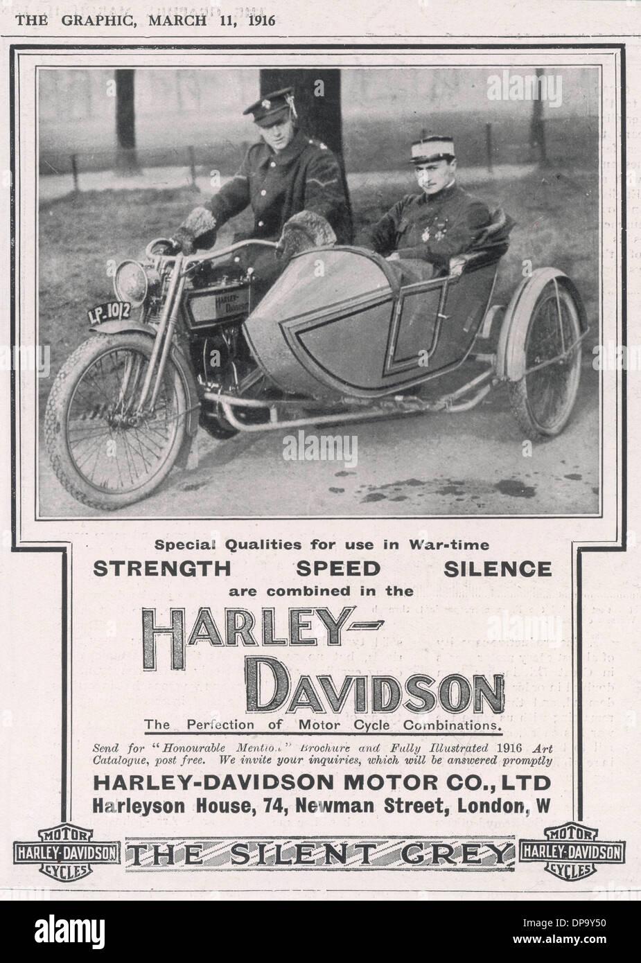 HARLEY DAVIDSON AD. - Stock Image
