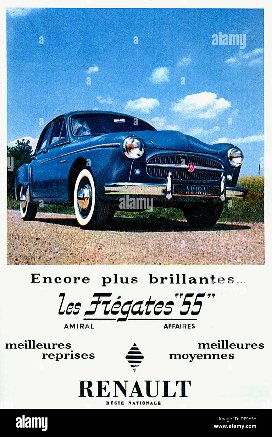 RENAULT 1955 - Stock Image