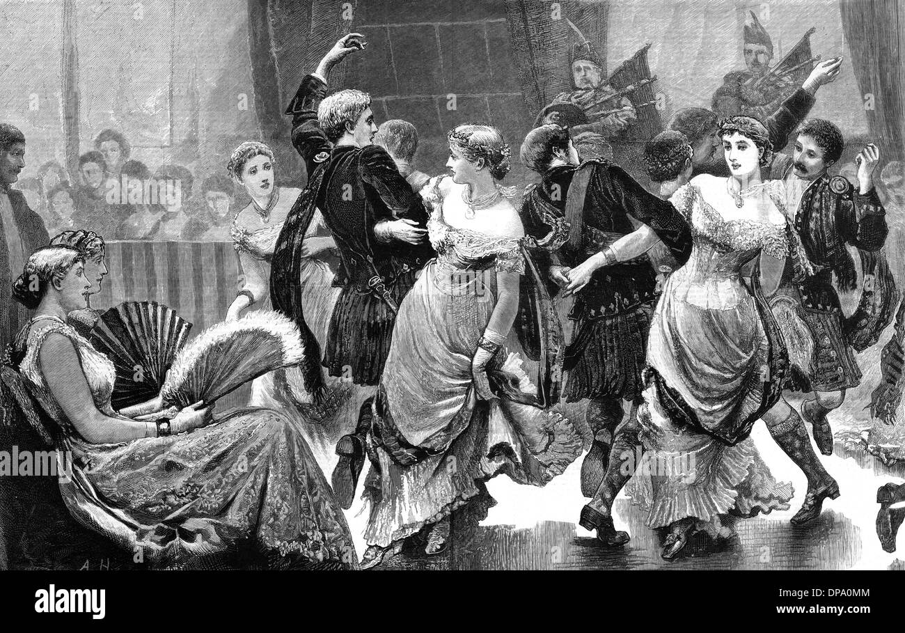 SCOTTISH BALL 1878 - Stock Image