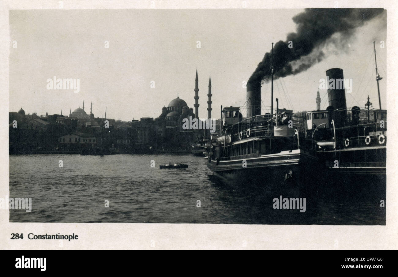 Istanbul, Turkey - Sirket-i Hayriye ferryboats - Stock Image