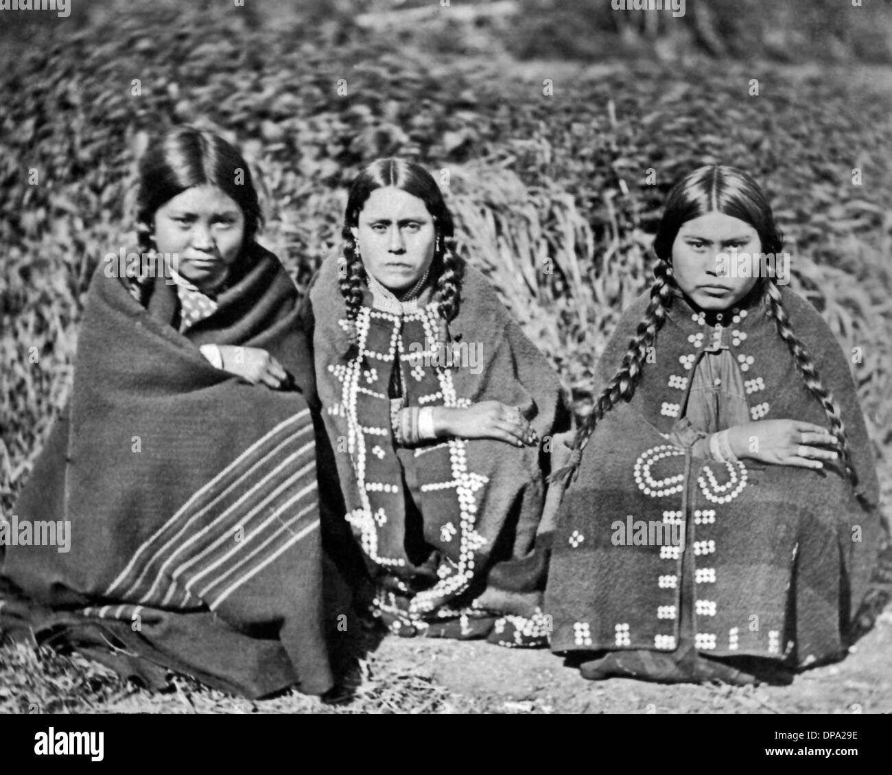 Indigenous women, Knight's Inlet - Stock Image
