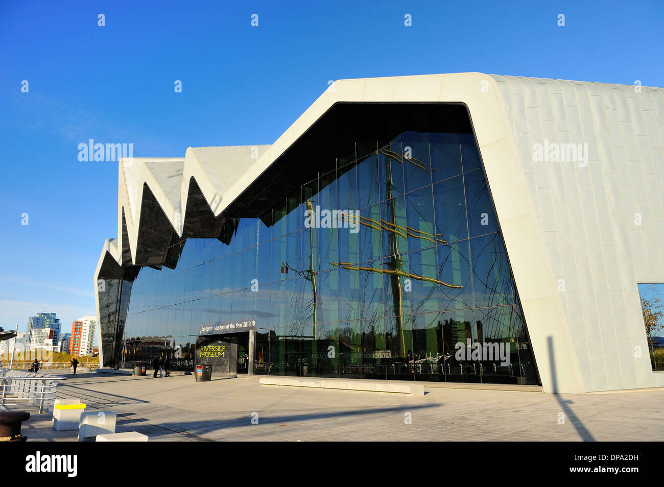New Riverside Museum of Transport, Glasgow, Scotland - Stock Image