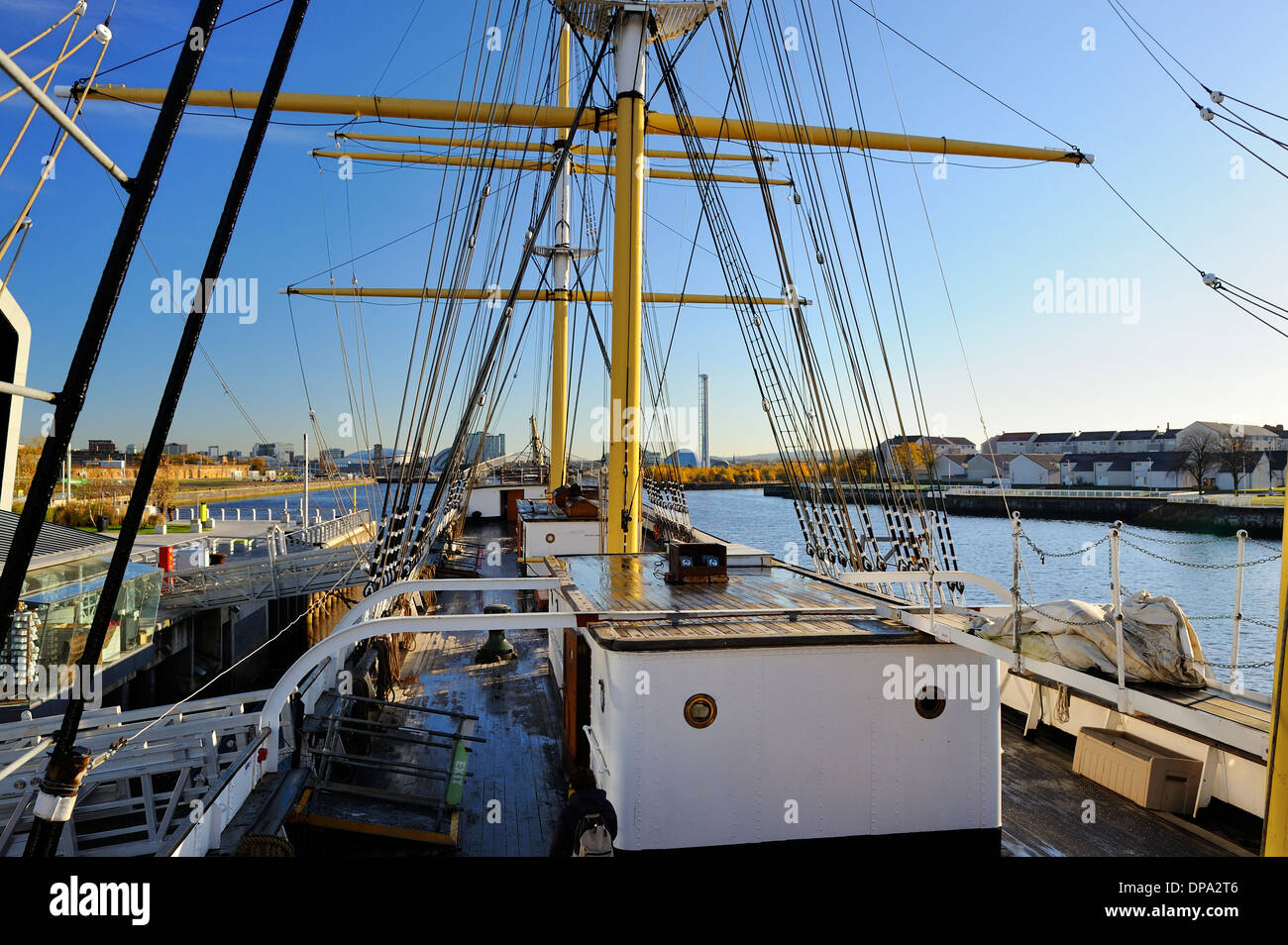 On board tall ship SV Glenlee berthed at new Riverside Museum of Transport, Glasgow, Scotland - Stock Image