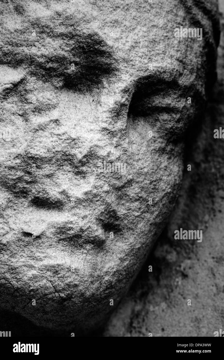 Ancient bas-relief detail - Stock Image