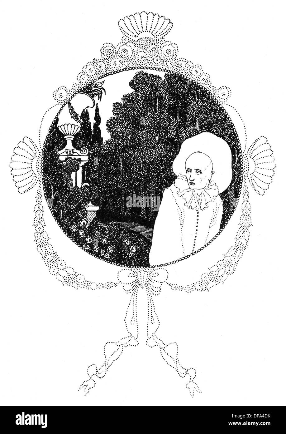 The Pierrot of the Minute by Aubrey Beardsley - Stock Image