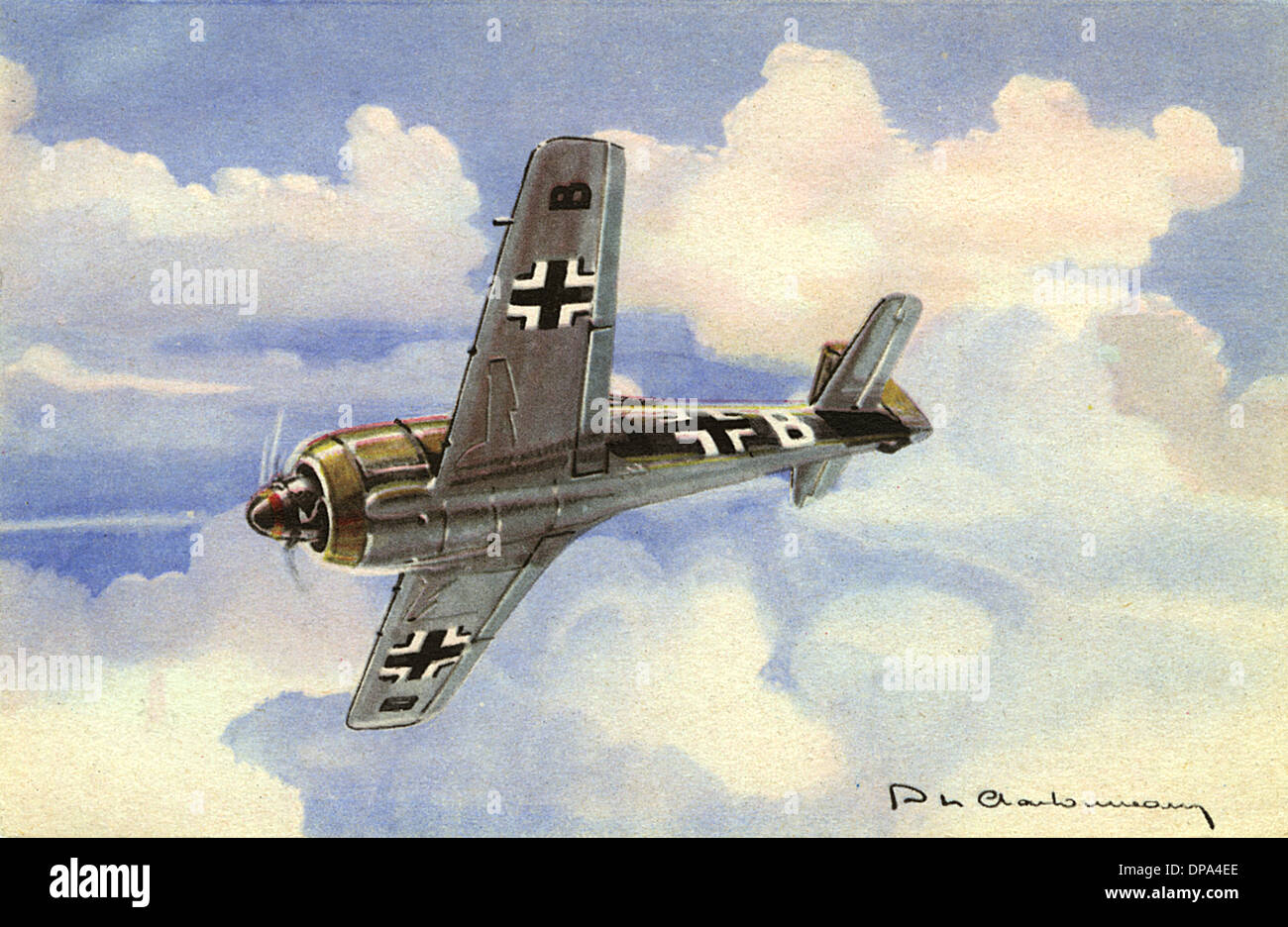 FOCKE-WULF 190 FIGHTER - Stock Image