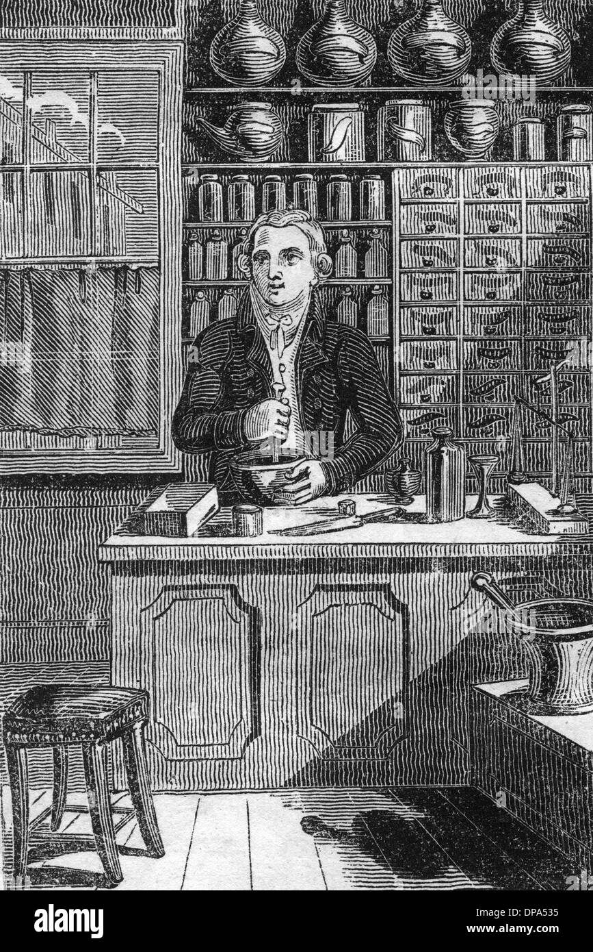 APOTHECARY 1827 - Stock Image