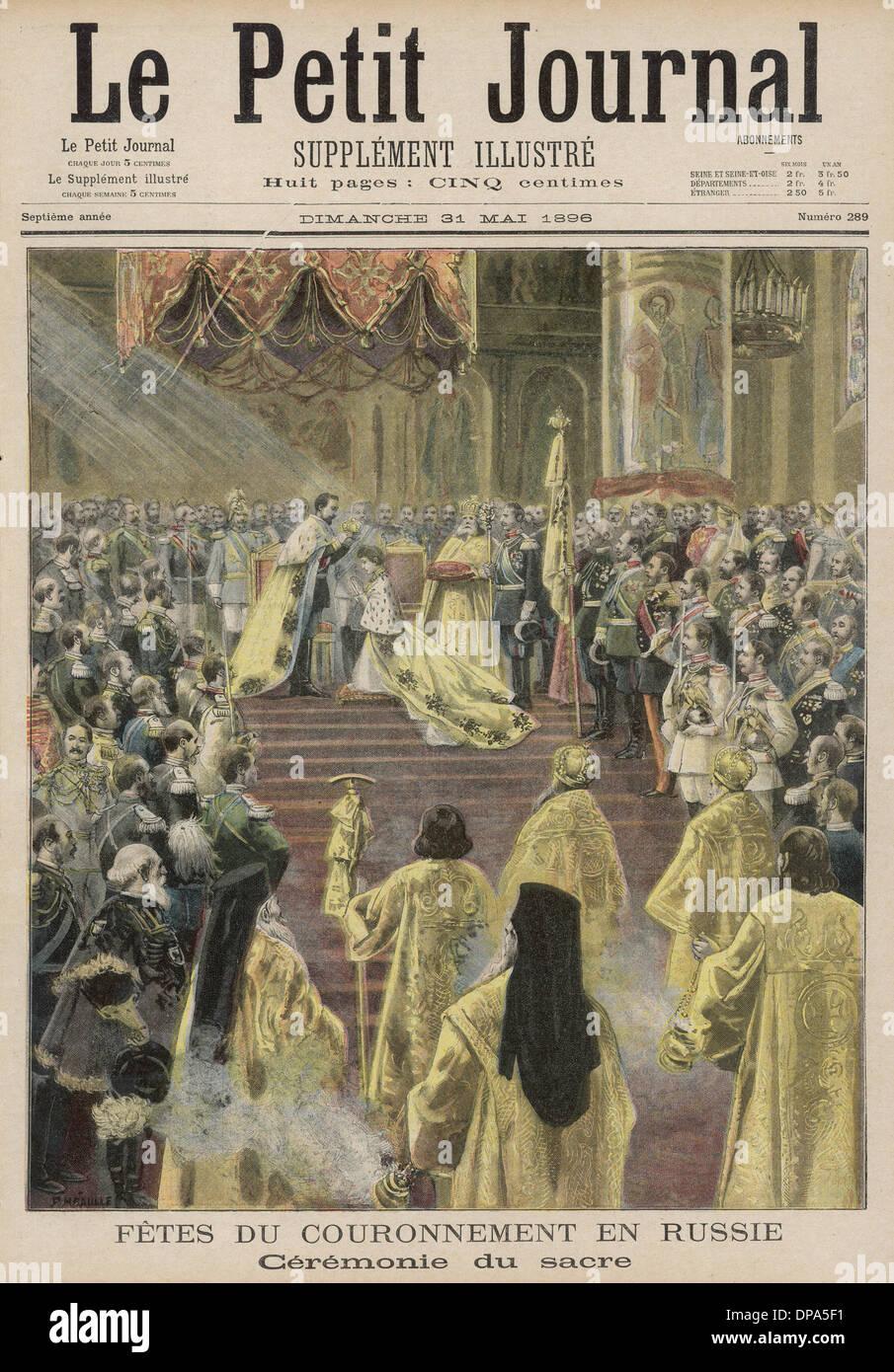 NICOLAS II CORONATION - Stock Image