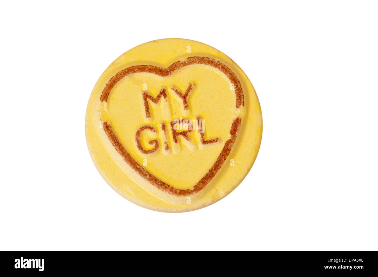Love Heart Sweet My Girl - Stock Image