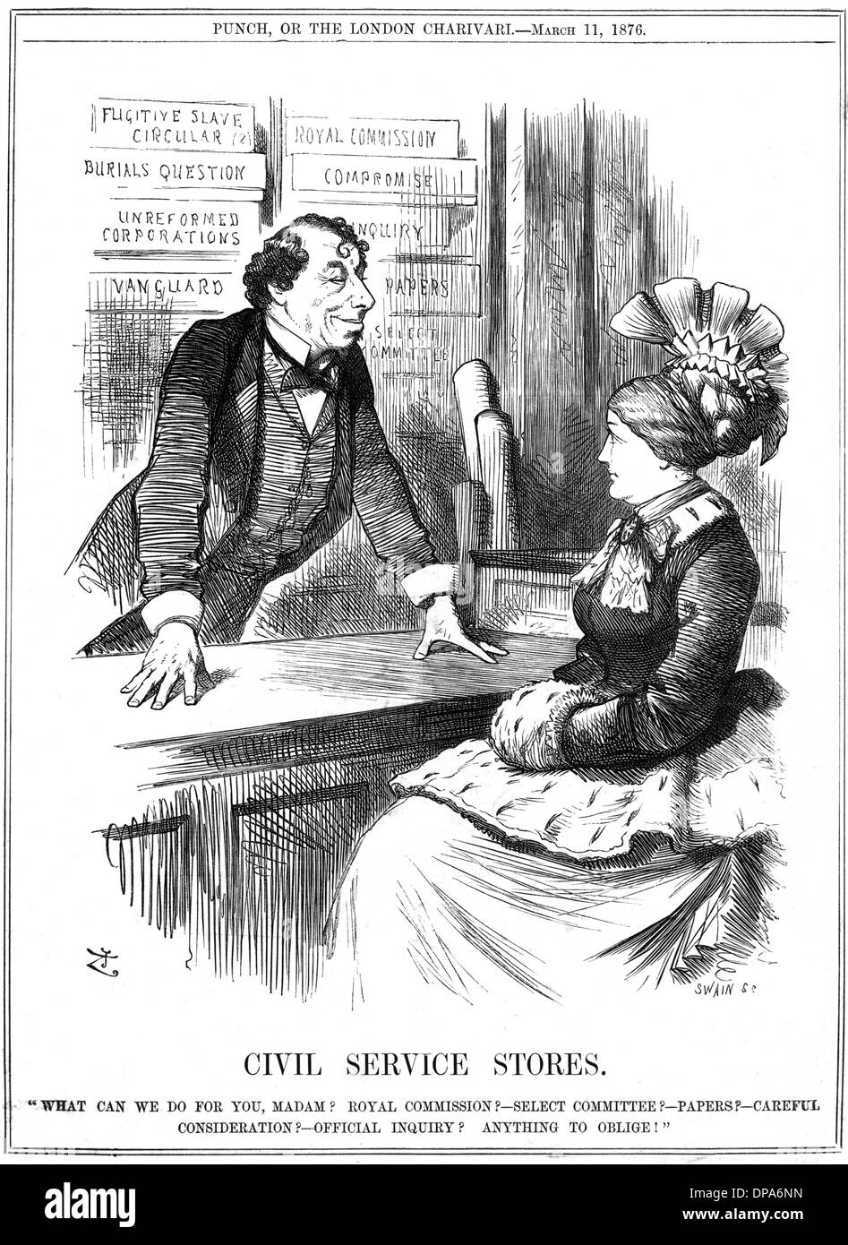 DISRAELI/CIVIL SERVICE - Stock Image