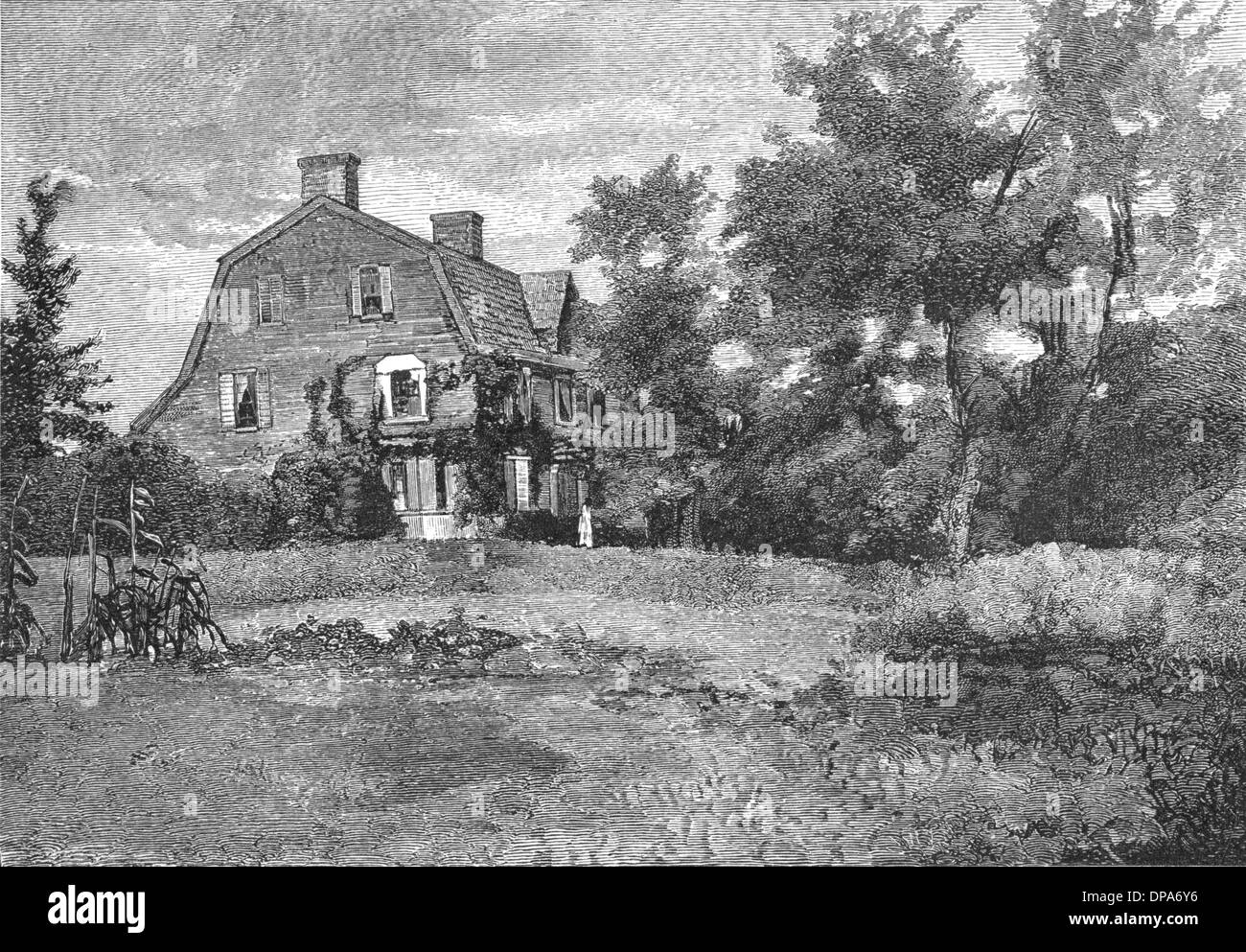 RW EMERSON/OLD MANSE - Stock Image