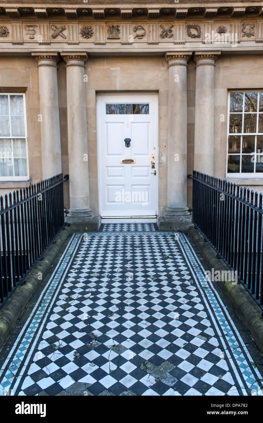 Traditional front door in UK in Bath, UK Stock Photo
