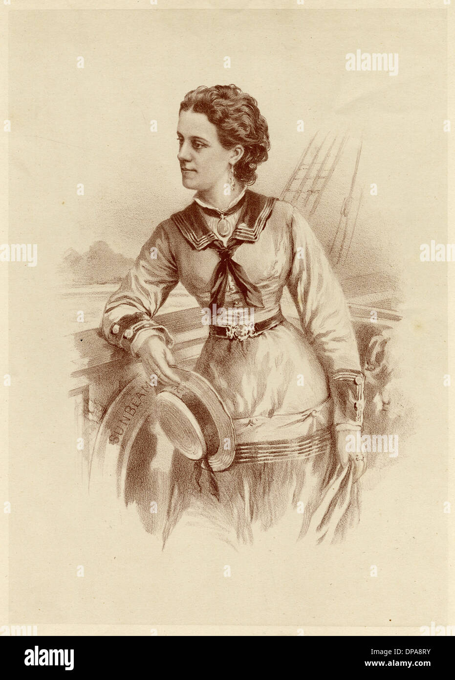 LADY ANNIE BRASSEY/SEPIA - Stock Image