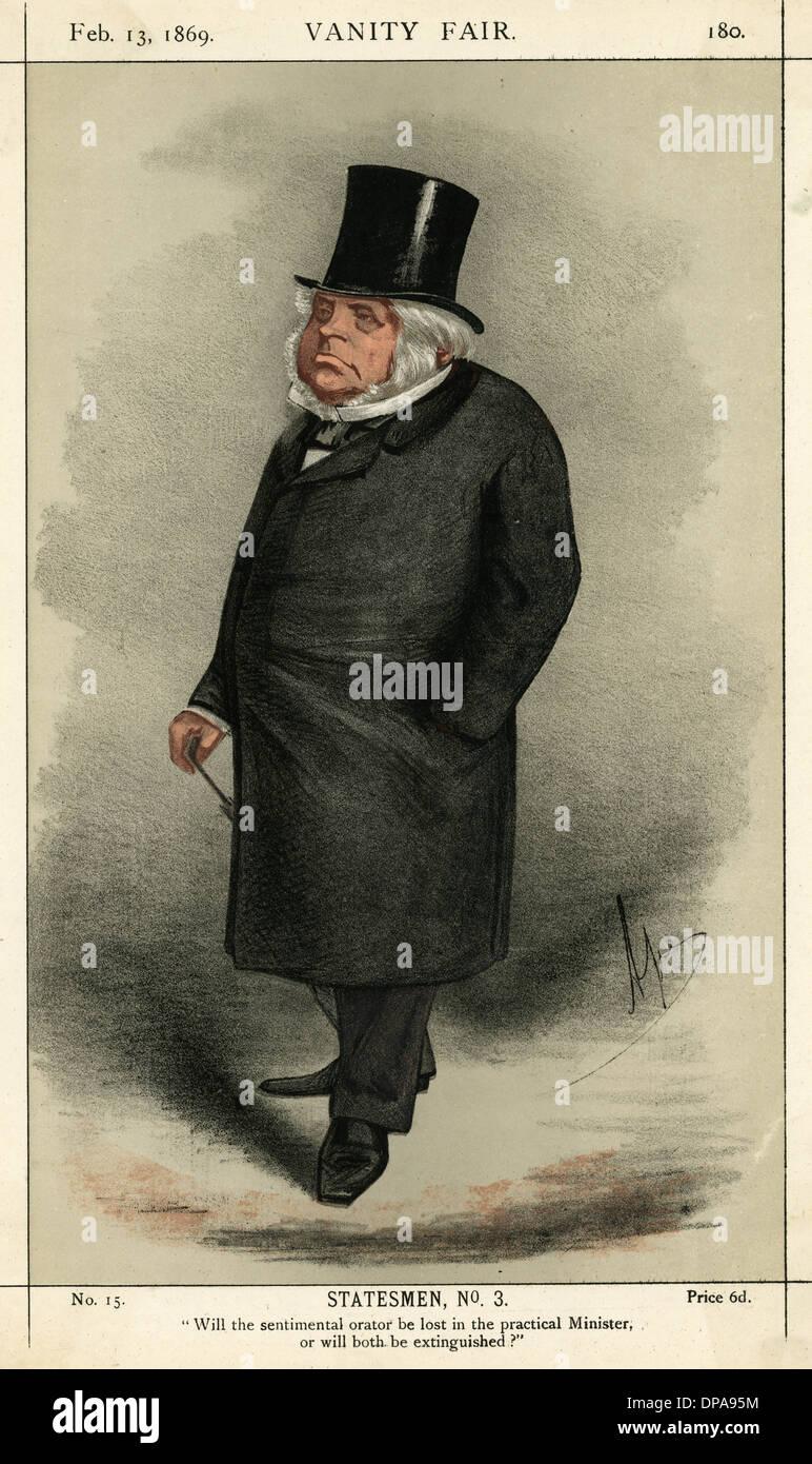 John Bright, Liberal politician - Stock Image
