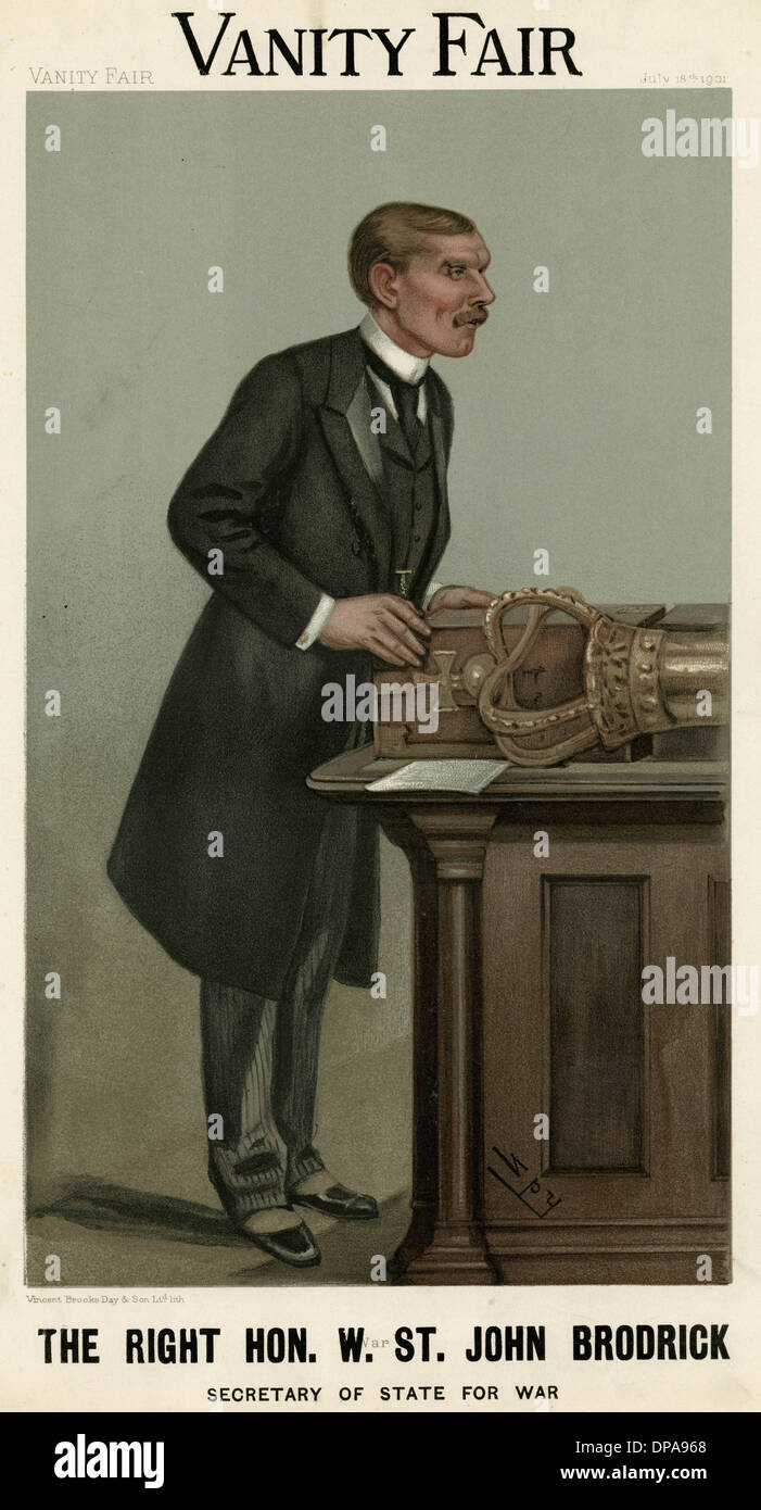 WILLIAM ST JF BRODRICK - Stock Image