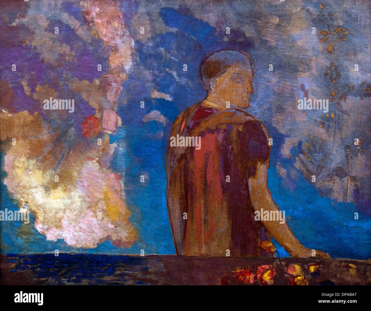 Le Regard - the Look 1910 Odilon Redon 1840-1916 France French - Stock Image
